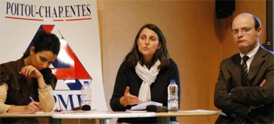 De gauche à droite : Valérie Fernandes, Valérie Monrouzeau et François Xavier Andrault